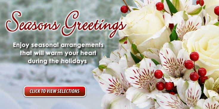 Celebrate the holidays with flowers.